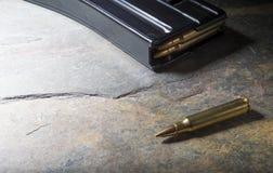 Патрон и кассета штурмовой винтовки Стоковое Фото