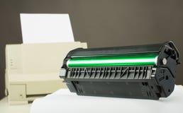 Патрон тонера принтера стоковое изображение