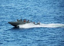 патруль военно-морского флота шлюпки Стоковое фото RF