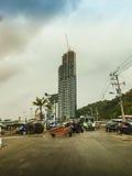 Паттайя, Таиланд - 21-ое января 2016: Новые здания highrise Стоковое Изображение