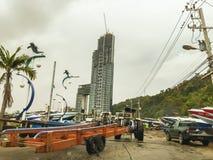 Паттайя, Таиланд - 21-ое января 2016: Новые здания highrise Стоковое Фото