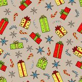 Christmas gifts pattern stock illustration