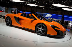 Паук Женева 2014 McLaren 650S Стоковое фото RF
