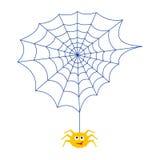 Паук и сеть насекомое сердитой иллюстрация штока