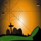 Паук на день хеллоуина Стоковое фото RF