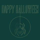 Паук проползает на хеллоуине Стоковые Фото