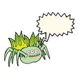 паук шаржа пугающий с пузырем речи Стоковые Фото