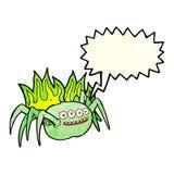 паук шаржа пугающий с пузырем речи Стоковое фото RF