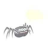 паук шаржа пугающий с пузырем речи Стоковые Изображения RF