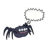 паук шаржа пугающий с пузырем речи Стоковые Фотографии RF
