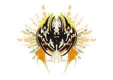 Паук Grunge племенной Стоковое Изображение