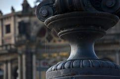 Паутина на декоративной лампе Стоковые Изображения