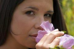 пахнуть цветков Стоковое Фото
