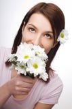 пахнуть цветков Стоковая Фотография RF