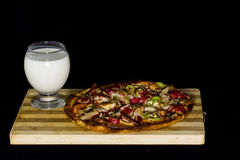 пахта и пицца Стоковое Изображение