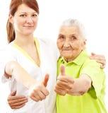 пациент доктора показывая большие пальцы руки вверх Стоковая Фотография RF