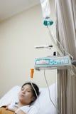 Пациент и IV машина потека Стоковое Изображение RF