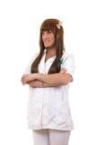 Пациент медсестры ждать Стоковое Изображение RF