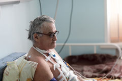 Пациент после хирургии сердца Стоковые Фото