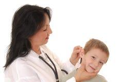 пациент 6 докторов Стоковая Фотография