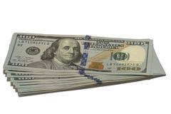 Пачка американских долларов Стоковое Изображение