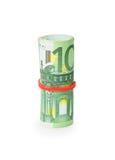 Пачка банкнот счетов евро Стоковое Изображение RF