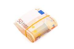 Пачка европейской валюты Стоковое фото RF