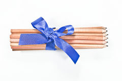 Пачка карандашей на белой предпосылке Стоковые Фотографии RF