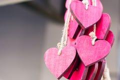 Пачка красных сердец Стоковое Изображение