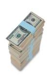 Пачка нас 100 долларов бумажных денег Стоковая Фотография RF