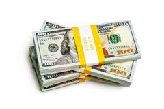Пачка 100 долларов США банкнот 2013 варианта Стоковые Изображения RF