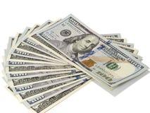 Пачка США 100 долларов бумажных денег Стоковое Изображение
