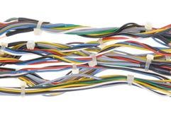 Пачки кабелей сети с связями кабеля Стоковые Изображения RF