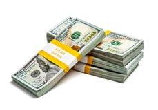 Пачки 100 долларов США банкнот 2013 варианта Стоковое Изображение RF