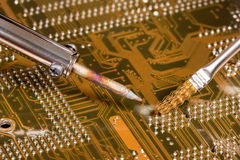 паять компьютера доски Стоковое Изображение
