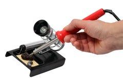 паять утюга руки Стоковое Изображение RF