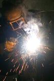 паяя работник Стоковые Фотографии RF