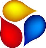 падает логос Стоковые Изображения RF