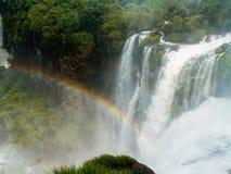 падает радуга iguazu Стоковое фото RF