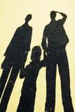 падает семья Стоковая Фотография
