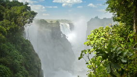 падает victoria Зимбабве сток-видео