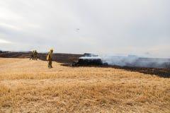 Падать вертолета пожарного защиты гражданского населения Spainsh AS-355N Стоковые Изображения