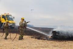 Падать вертолета пожарного защиты гражданского населения Spainsh AS-355N Стоковое фото RF