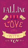 Падать влюбленн в вы Стоковая Фотография RF