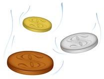 падать монеток Иллюстрация вектора