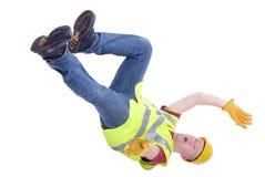 Падать рабочий-строителя Стоковые Фото
