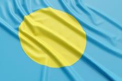 Палау Flag Стоковые Изображения