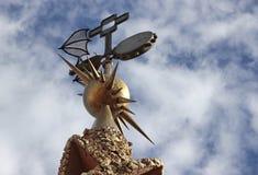 Палау Guell - железная лопасть погоды стоковое фото