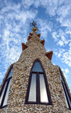 Палау Guell - крыша стоковое фото rf