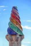 Палау Guell - печная труба стоковая фотография